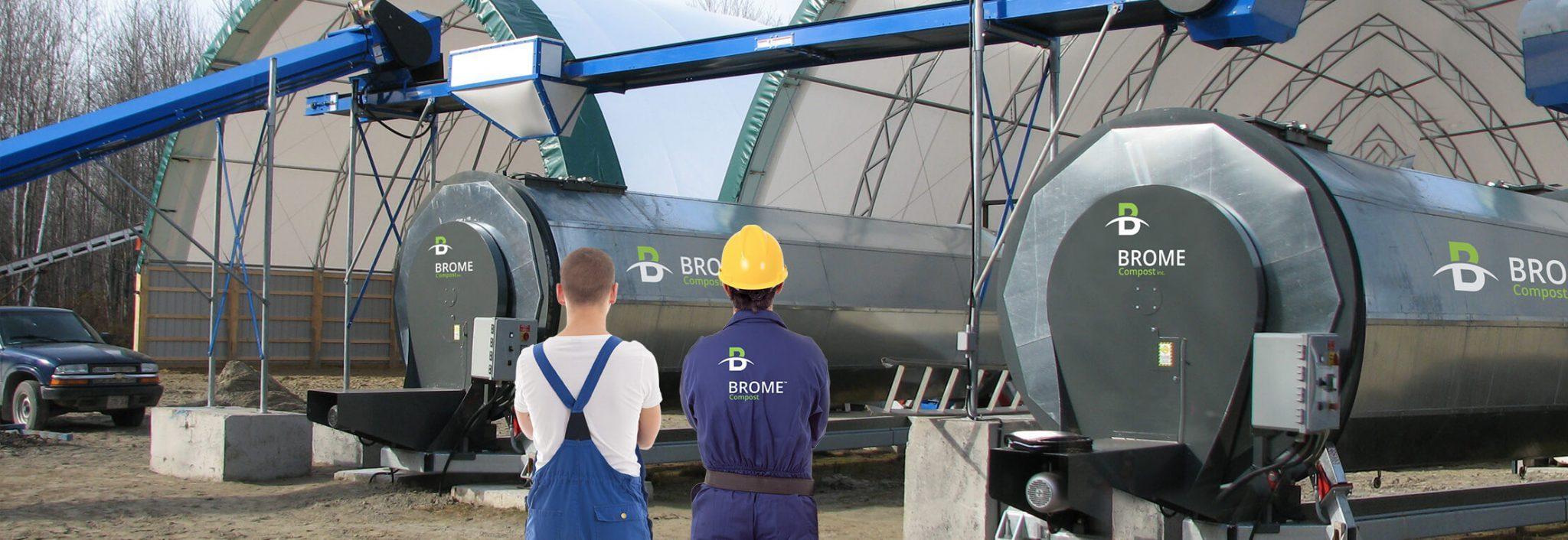 Système de compostage industriel et modulaire pour vos besoins spécifiques. BROME industrial compsoting systems are modulaire to adapt to your specific needs.