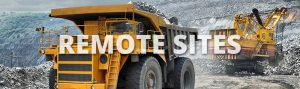 Industrial composting systems for mines and remote sites